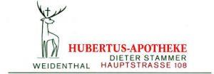Hubertus-Aphoteke, Hauptstraße 108, 67475 Weidenthal, Tel.: 06329 96013,